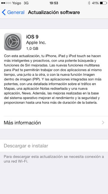 descarga iOS 9