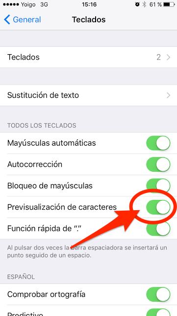 previsualizacion teclado ipad iphone