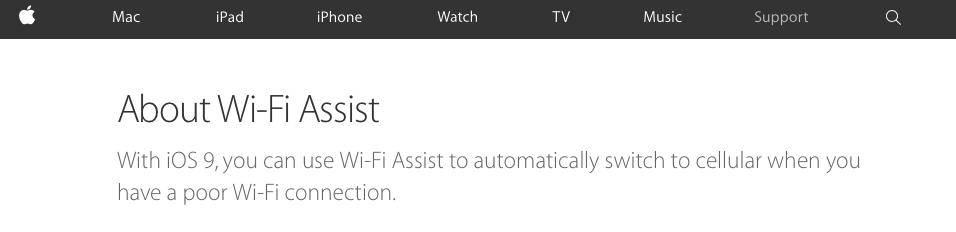 asistente de wifi iOS 9
