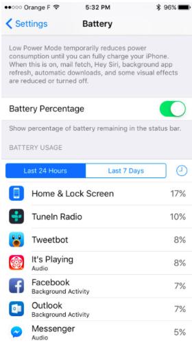 facebook consumo bateria