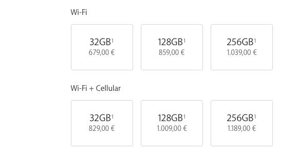 """precios iPad pro 9,7"""""""