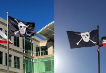 Bandera pirata Apple