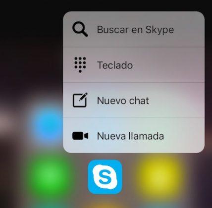 3D Touch Skype