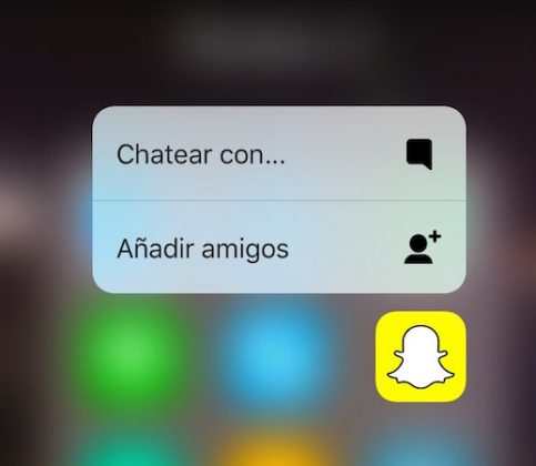 3D Touch Snapchat