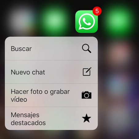 3D Touch Whatsapp