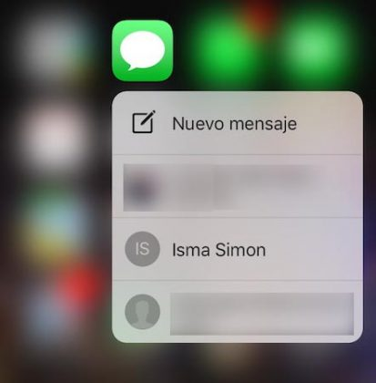 3D Touch iMessage