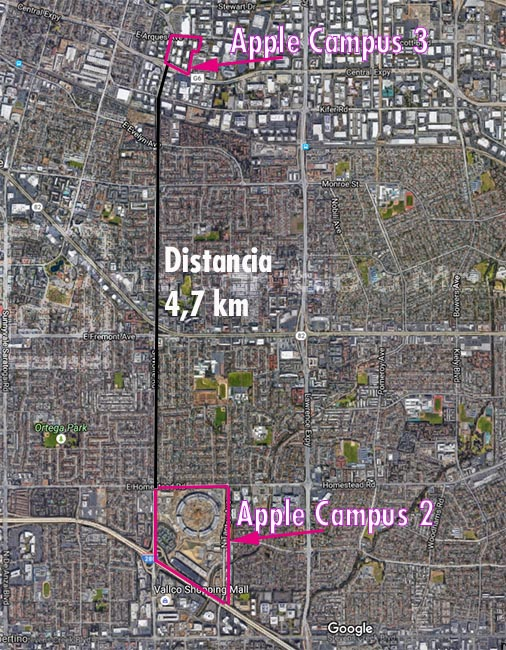 Situación Apple Campus 3