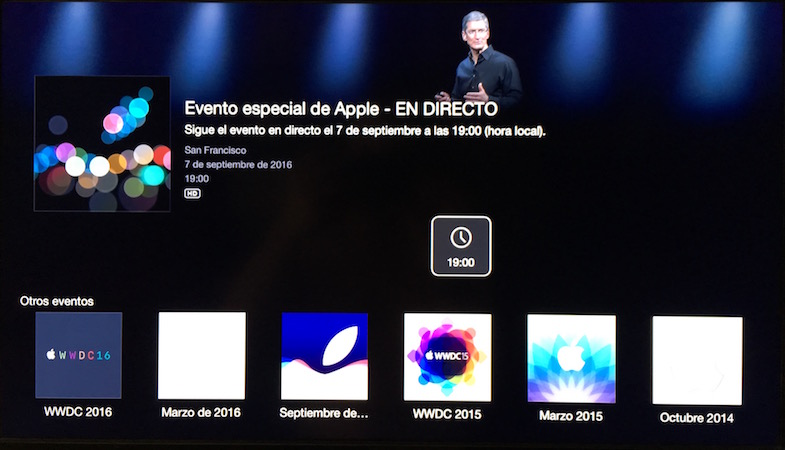 "Apple Event ""See You On The 7th"" en Apple TV"