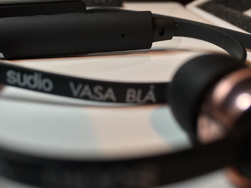 Auriculares Vasa Blå con micrófono