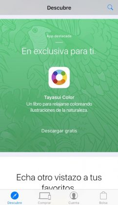 """Entramos en la app """"Apple Store"""""""