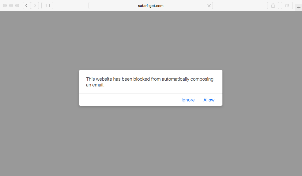Ataque D.oS. estafa a macOS - Safari