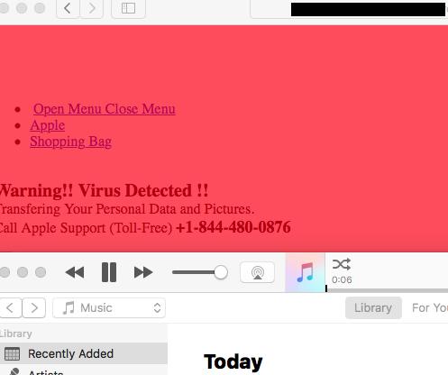 Ataque D.oS. estafa a macOS - iTunes