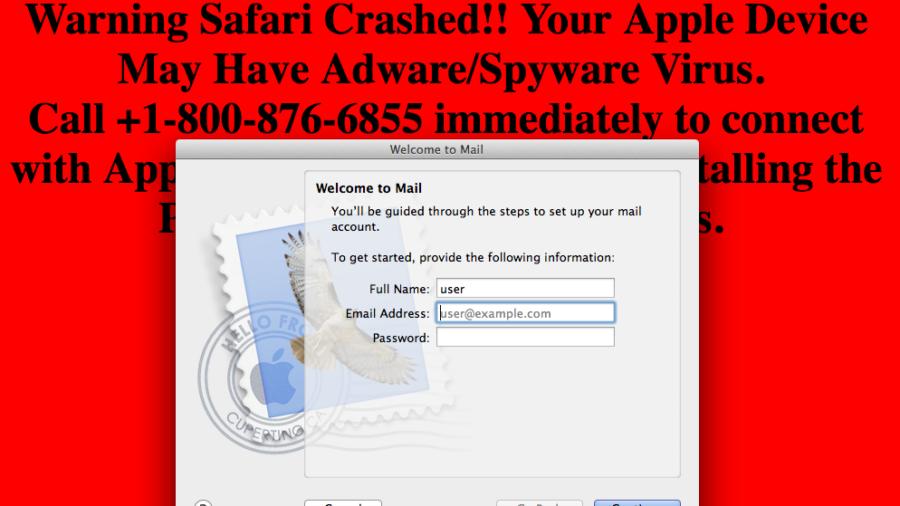 Ataque D.oS. estafa a macOS - Mail