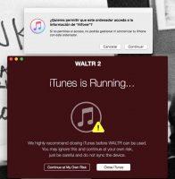 Instalando Waltr 2 - iTunes