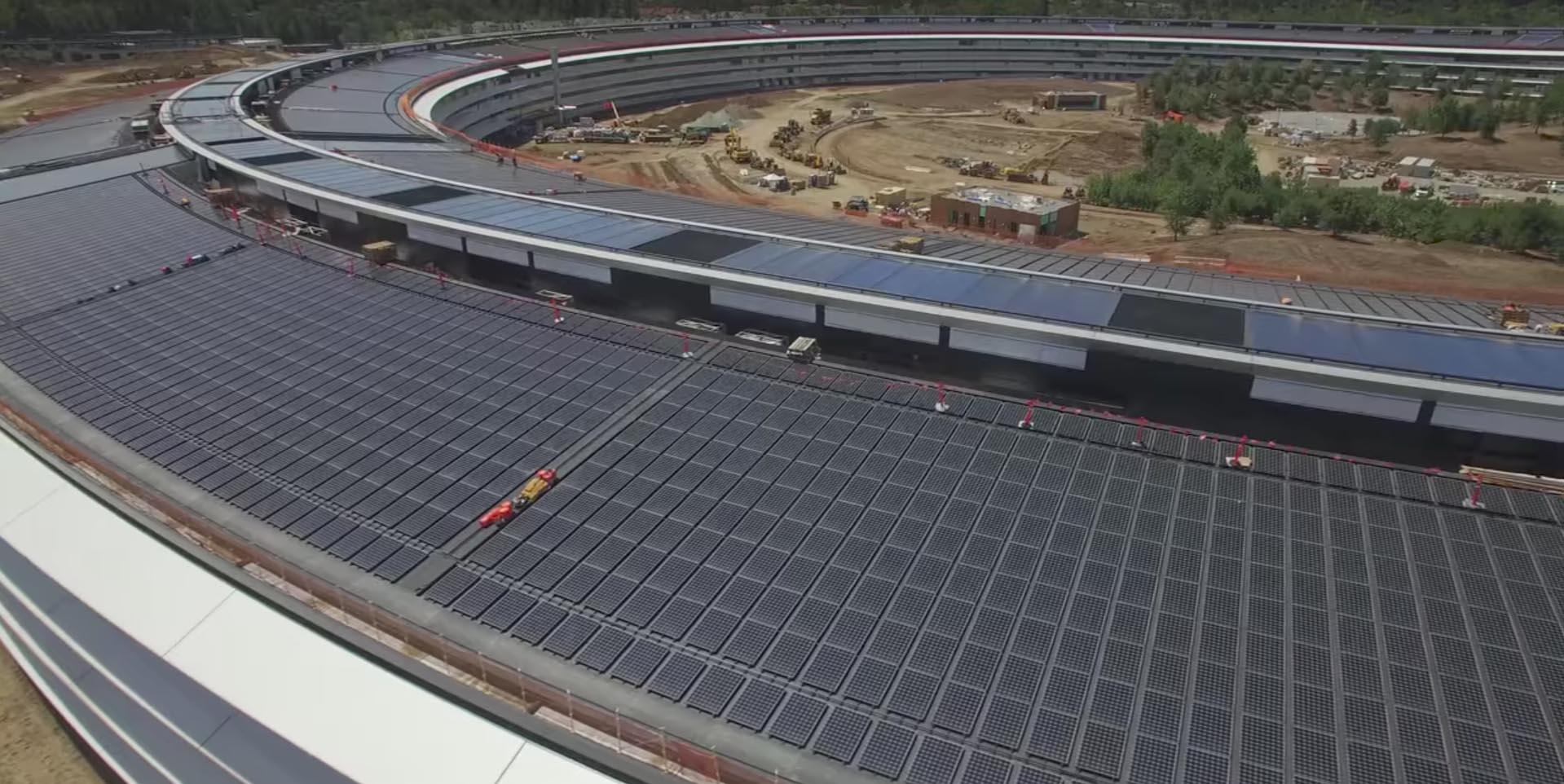 Evolución obras Apple Park - mayo 2017