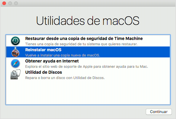 Utilidades de macOS