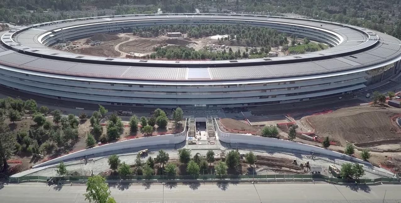 Apple Park - evolución finales mayo 2017