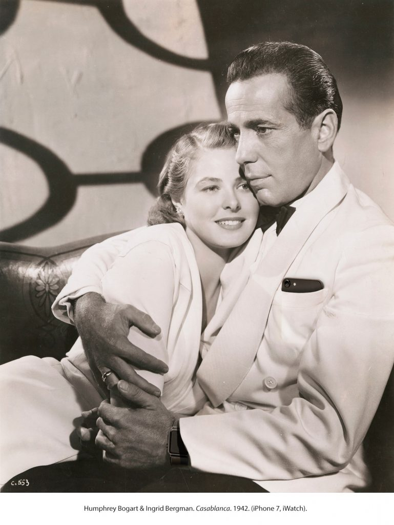 Humphrey Bogart & Ingrid Bergman. Casablanca. 1942 (iPhone 7, Apple Watch)