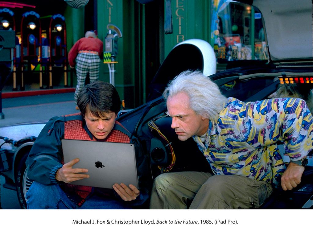 Michael J. Fox & Christopher Lloyd. Regreso al Futuro. 1985. (iPad Pro)