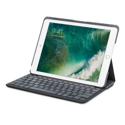 Funda para iPad Air Logitech Canvas - iPad plegado con teclado