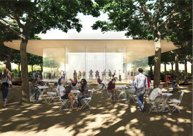Posible Caffé del Centro de Visitantes del Apple Park