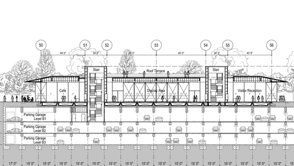 Planos del Caffeé del Centro de Visitantes del Apple Park