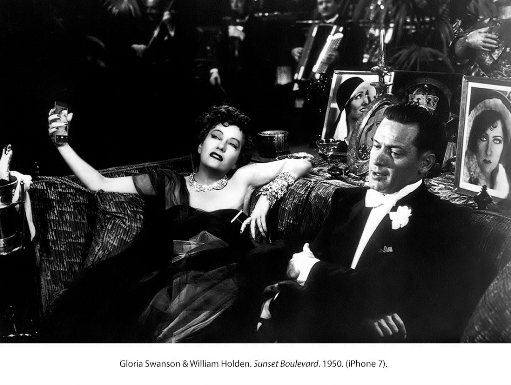 Gloria Swanson & William Holden. El crepúsculo de los dioses. 1950. (iPhone 7)
