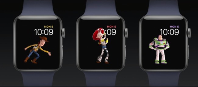 Woody, Buzz y Jessie se suman a Mickey y Minnie en watchOS 4
