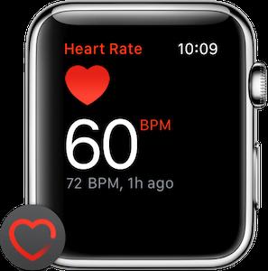 Apple Watch frecuencia cardíaca