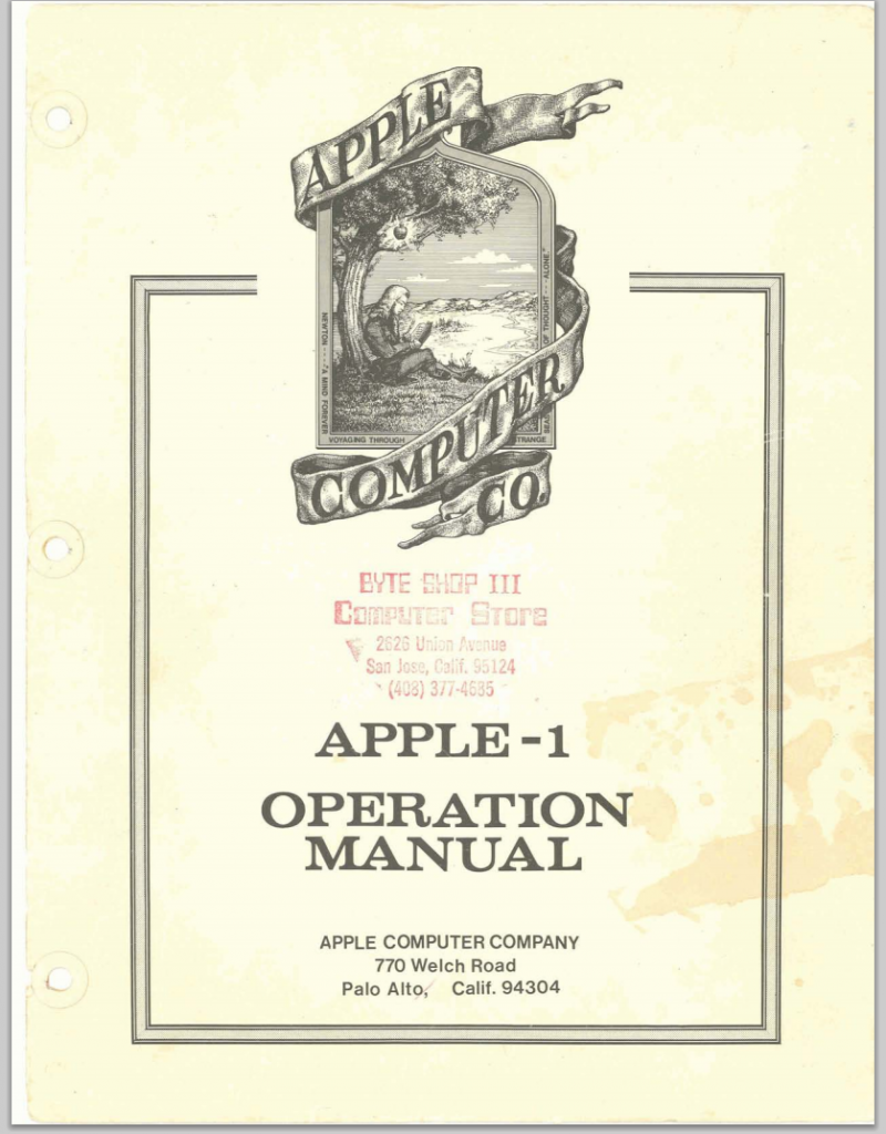 Manual de instrucciones del Apple 1