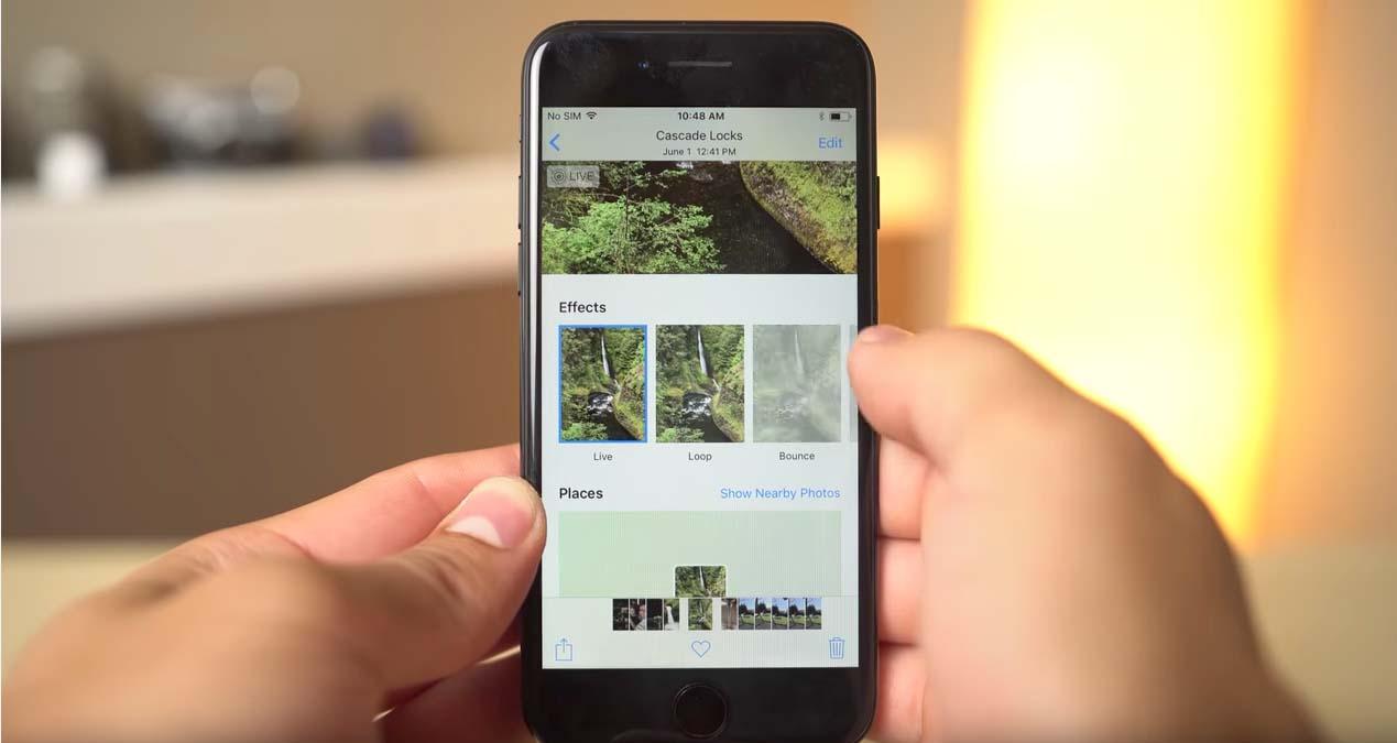 iOS 11 podrás dar efectos Live Photos