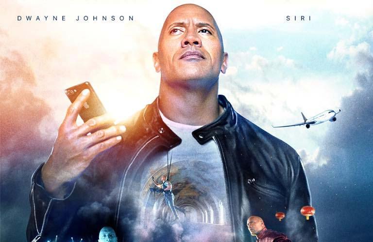 The Rock x siri - película