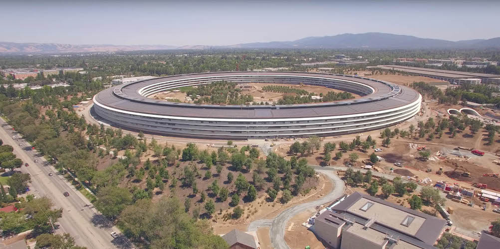 Apple Park a vista de drone