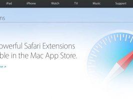 Nueva web para extensiones de Safari