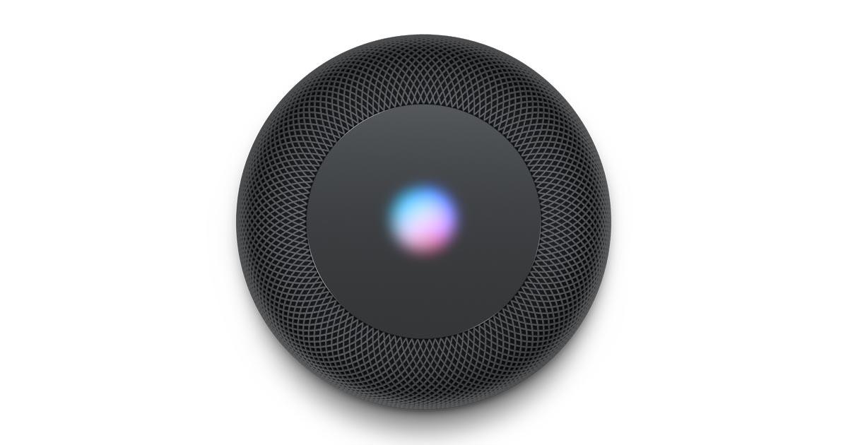 Pantalla Siri del HomePod