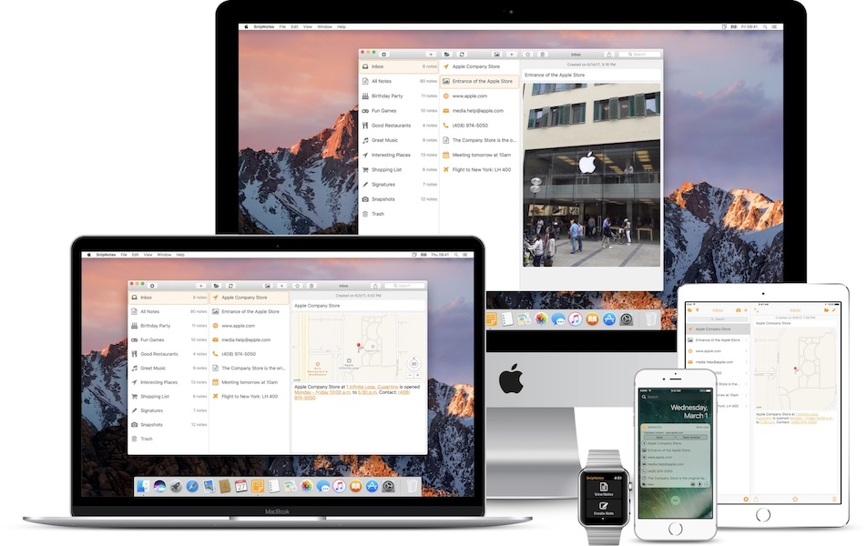 SnipNotes para AppleWatch