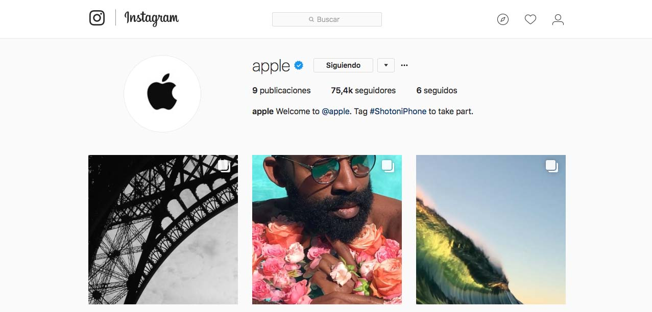 Apple en Instagram