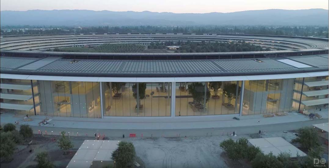 Apple Park - drone agosto 2017
