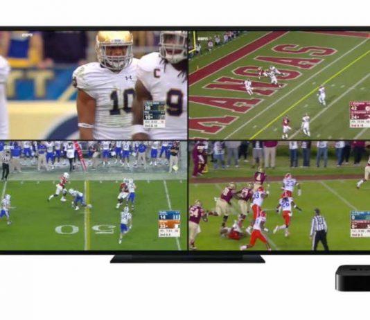 Multidifusión de ESPN en el Apple TV