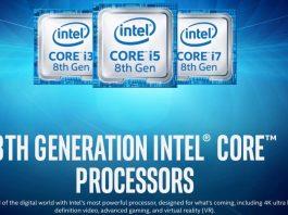 intel Core i3 i5 e i7 8ª Gen