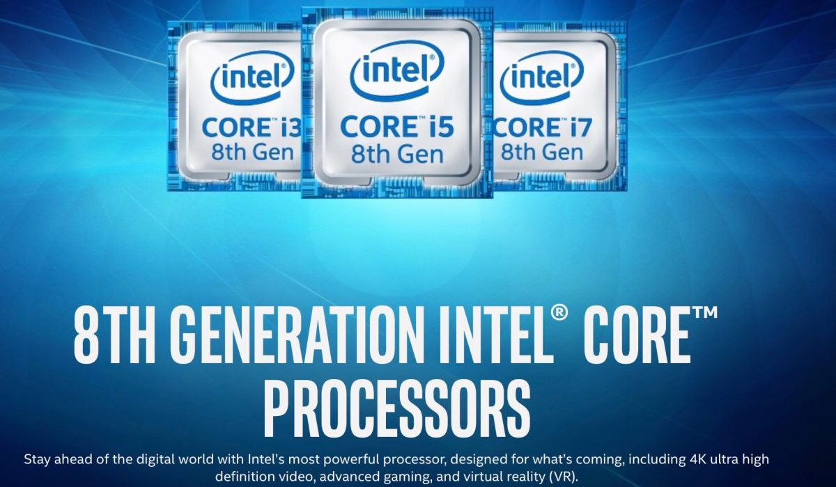 intel Core i3 i5 e i7 8ª Gen