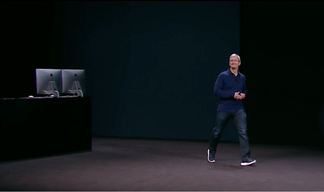 Tim Cook en la keynote de 2016
