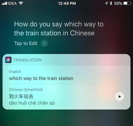 Siri Traductor en iOS 11