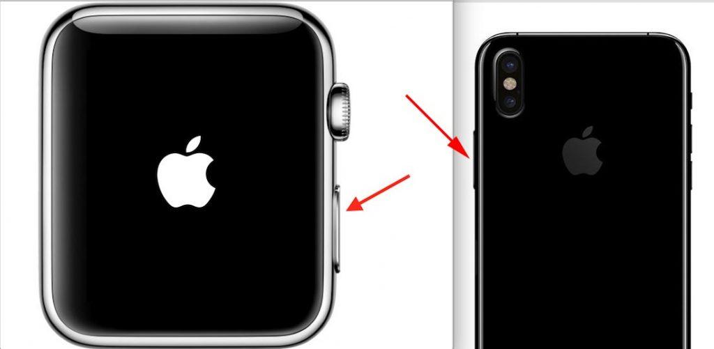 Botón multifuncional Apple Watch y iPhone 8