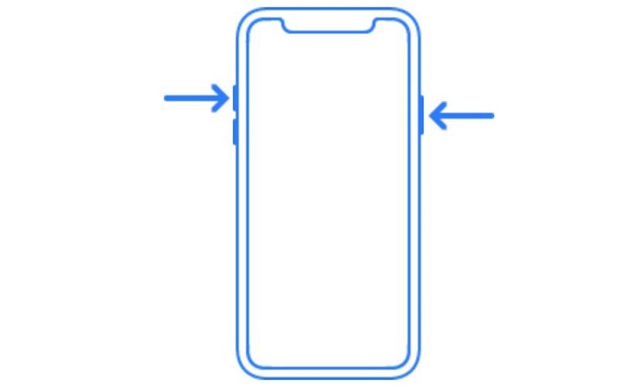 Esquema de botones de iPhone 8