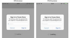 Alerta Apple ID phishing