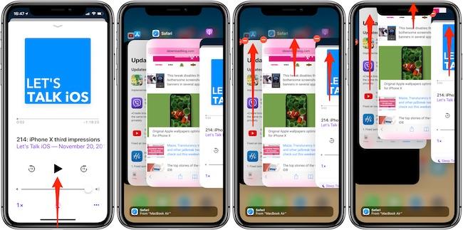 Forzar cierre aplicaciones iPhone X
