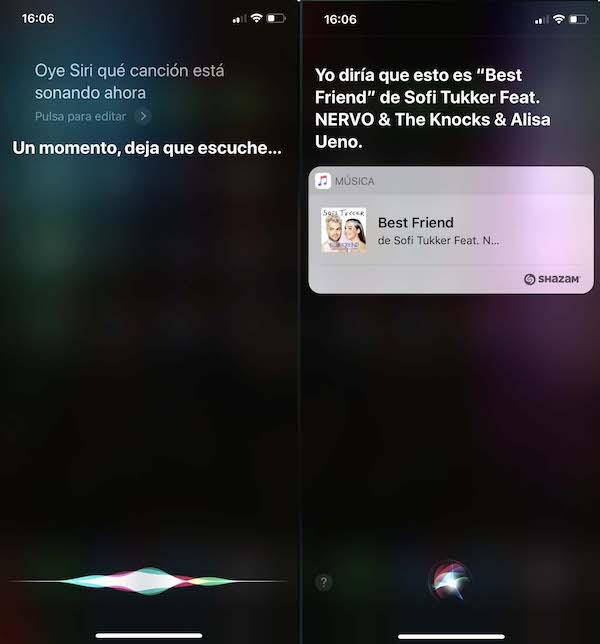 Siri Shazam adivina canción
