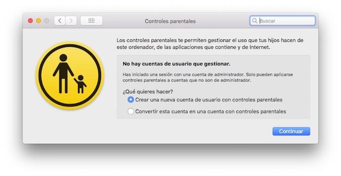 Configurar Mac Control Parental 1