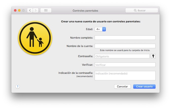 Configurar Mac Control Parental 2